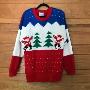 Vintage chunky knit Christmas sweater